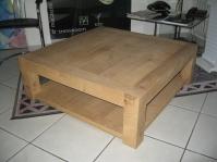 Table basse de salon en vieux chène