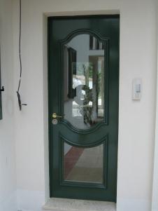Porte d'entrée bois et verre